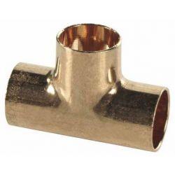 Trójnik miedziany do lutowania, ⌀ 22 mm × 22 mm × 22 mm