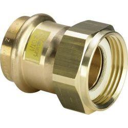 """Złączka miedziana zaciskana do gazu, ⌀ 22 mm × 3/4"""" GW"""