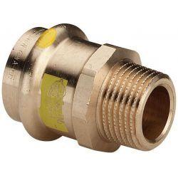 """Nypel miedziany zaciskany do gazu, ⌀ 22 mm × 3/4"""" GZ Akcesoria i narzędzia"""