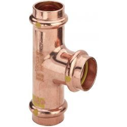 Trójnik redukcyjny miedziany zaciskany do gazu, ⌀ 28 mm × 15 mm × 28 mm Pozostałe