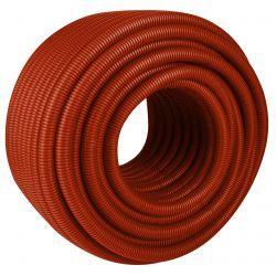 Rura osłonowa karbowana, czerwona, ⌀ 25/21 mm, długość: 50 mb. Ogrzewanie