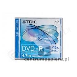 TDK Płyta DVD-R TDK 4.7GB w pudełku SLIM [DVD-R-TDK 4.7GB (SLIM)]