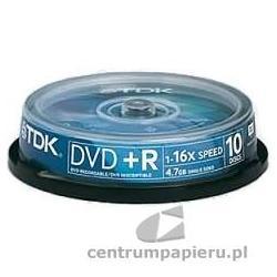 TDK Płyty DVD R TDK 4.7GB w tubie 10szt [DVD R-TDK CAKE 10szt]