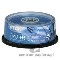 TDK Płyty DVD R TDK 4.7GB w tubie 25szt [DVD R-TDK CAKE 25szt]