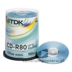 TDK Płyty CD-R TDK 700MB 80min w tubie 100szt [CD-R-TDK CAKE 100szt]