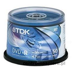 TDK Płyty DVD-R TDK 4.7GB w tubie 50szt [DVD-R-TDK CAKE 50szt]