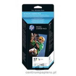 HP Wklad kolorowy HP nr 57 papier foto 10X15 60 ark GRATIS [Q7942AE]