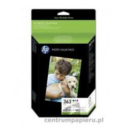 HP Zestaw HP nr 363 Series Photo Pack - 6 wkladów papier foto 10 x 15 cm 150 ark. 210 g m2 [Q7966EE]