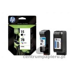 HP Zestaw wkladów HP czarny nr 15 25 ml kolor nr 78 19 ml [SA310AE]