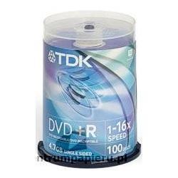 TDK Płyty DVD R TDK 4.7GB w tubie 100szt [DVD R-TDK CAKE 100szt]