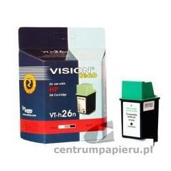 VisionTech Zamienny wkład atramentowy czarny 100 NOWY do HP nr. 26 HP51626 40ml [vt-h26n]
