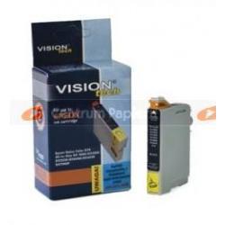 VisionTech Zamienny wkład czarny 100 nowy C13T01340110 do Epson 16 ml [vt-eT13]