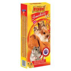 VITAPOL Kolby MIX (orzech-owoce leśne-popcorn) dla gryzoni 135g/3szt