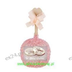 Jabłko w karmelu, białej czekoladzie z cukierkową posypka różową- ślub