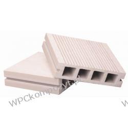 Deska tarasowa, kompozyt drewna, WPC, 120x30mm, kolor jasnoszary WPC003