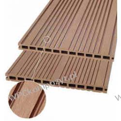 WPC kompozyt drewna, Deska tarasowa WPC_295x25mm, kolor jasny brąz WPC012
