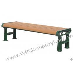 Ławka WPC_RCB kompozyt drewna + stal