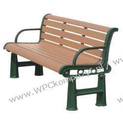Ławka WPC_RCA kompozyt drewna + stal