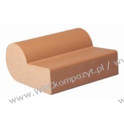 Profil bazowy ławki, kompozyt drewna, WPC, 75x32mm -  kolor brązowy, WPC08