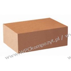 Profil bazowy ławki, kompozyt drewna, WPC, 80x40mm -  kolor brązowy, WPC08