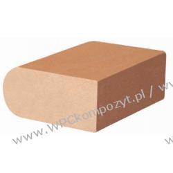 Profil bazowy ławki, kompozyt drewna, WPC, 85x40mm -  kolor brązowy, WPC08