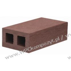 Profil bazowy ogrodzenia, kompozyt drewna, WPC, 57x32mm -  kolor brązowy, WPC11