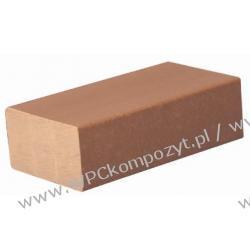 Profil bazowy ogrodzenia, kompozyt drewna, WPC, 57x32mm -  kolor brązowy, WPC08