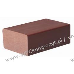 Profil bazowy ogrodzenia, kompozyt drewna, WPC, 64x34mm -  kolor brązowy, WPC08