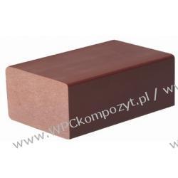 Profil bazowy ogrodzenia, kompozyt drewna, WPC, 70x40mm -  kolor brązowy, WPC08