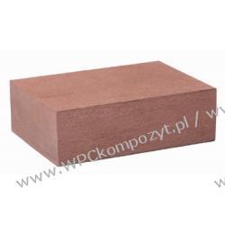 Profil bazowy ogrodzenia, kompozyt drewna, WPC, 80x30mm -  kolor brązow, WPC12