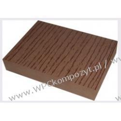 Deska na ogrodzenia, kompozyt drewna, WPC, 140x23mm -  kolor brązow, WPC12