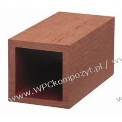 Profil bazowy ogrodzenia, kompozyt drewna, WPC, 50x50mm -  kolor brązow, WPC12
