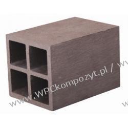 Profil bazowy ogrodzenia, kompozyt drewna, WPC, 70x70mm -  kolor brązow, WPC12