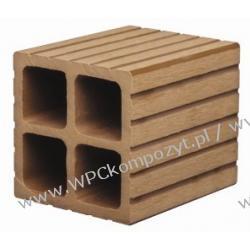Profil bazowy ogrodzenia, kompozyt drewna, WPC, 90x90mm -  kolor brązow, WPC12
