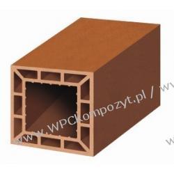 Profil bazowy ogrodzenia, kompozyt drewna, WPC, 200x200mm -  kolor brązow, WPC12