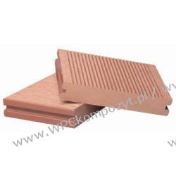 Deska tarasowa, kompozyt drewna, WPC, 140x25mm - 2,4/3/4/5,8m kolor ciemny brąz, WPC11