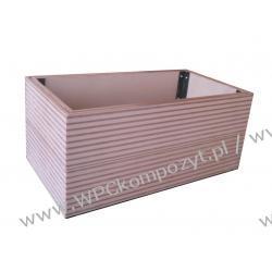 Trwała donica tarasowa lub balkonowa 65x35x28cm (kwietnik), WPC kompozyt drewna