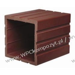 Profil bazowy ogrodzenia, kompozyt drewna, WPC, 120x120mm -  kolor brązowy, WPC12