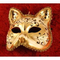 24 - Maska wenecka Złoty kot