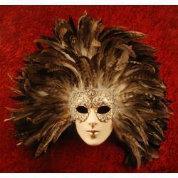 Maska wenecka z piórami - Wódz