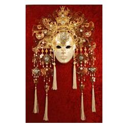 Maska wenecka zdobiona kryształami Swarowskiego  - model Duchessa