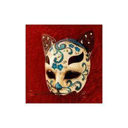 Maska wenecka Kwiatowy Kot