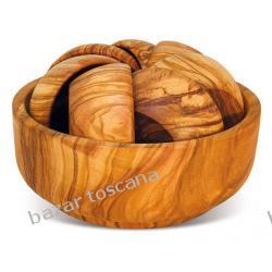 Komplet mis z drewna oliwki