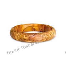 Bransoleta z drewna oliwnego okrągła
