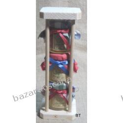 Zestaw miodów z Toskanii - prezent 3x 40g klepsydra