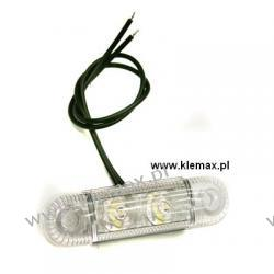 LAMPA OBRYSOWA DIODOWA PRZEZROCZYSTA 2 DIODY, Z KABLEM L=220mm, 12/24V  Oleju