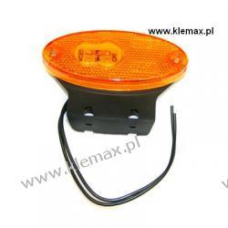 LAMPA OBRYSOWA DIODOWA POMARAŃCZOWA 24V, ŁEZKA, Z KABLEM L=210mm, Z UCHWYTEM