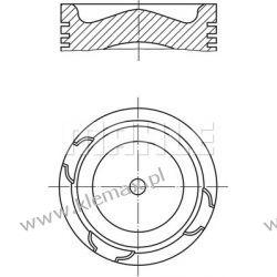 TŁOK KPL. SILNIKA DAF 95XF XE280C1, XE315C1, EURO 3, Fi 130mm Pozostałe
