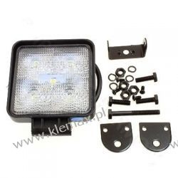 LAMPA ROBOCZA 5-LEDOWA PROSTOKĄTNA 12-24V, 5x3W, 110x110mm, OBUDOWA ALUM.