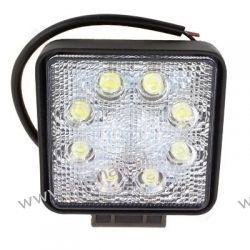 LAMPA ROBOCZA 8-LEDOWA PROSTOKĄTNA 12-24V, 8x3W, 110x110mm, OBUDOWA ALUM.